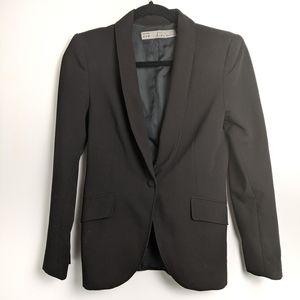 Zara basic black slim blazer